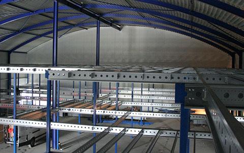 Constructie tussenvloer van bovenaf