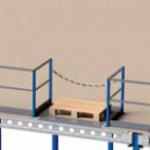 entresolvloer pallet-opzetplek